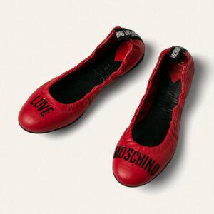 Love Moschino - Baleriny skórzane