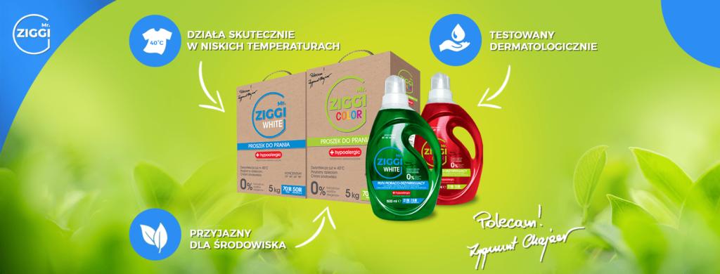 Środki dezynfekujące do prania Mr. ZIGGIŚrodki dezynfekujące do prania Mr. ZIGGI